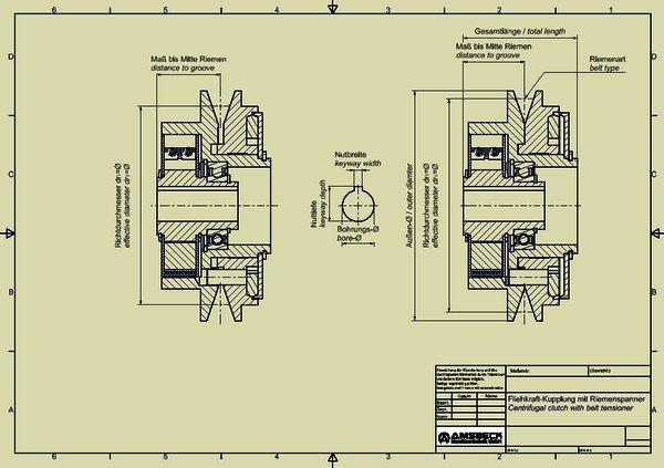 Centrifugal clutches with belt tensioner - Centrifugal clutches with belt tensioner