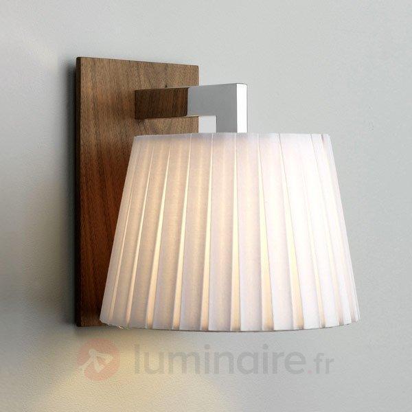 Élégante applique NOLA, bois foncé, blanc - Appliques en tissu
