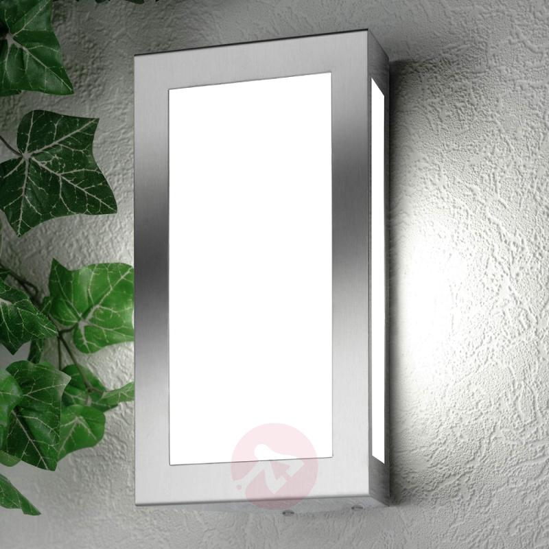 Long Rectangular Exterior Wall Lamp, excl. Sensor - stainless-steel-outdoor-wall-lights