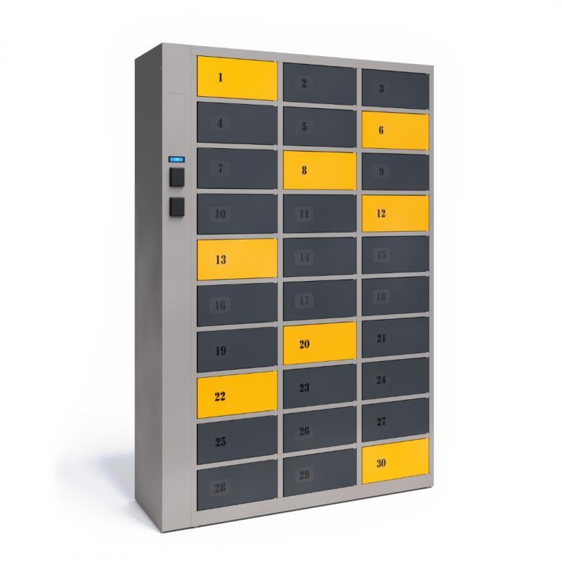 MULTI-COMPARTMENT TECHCODE RFID CABINETS - Remotely controlled cabinets with access control