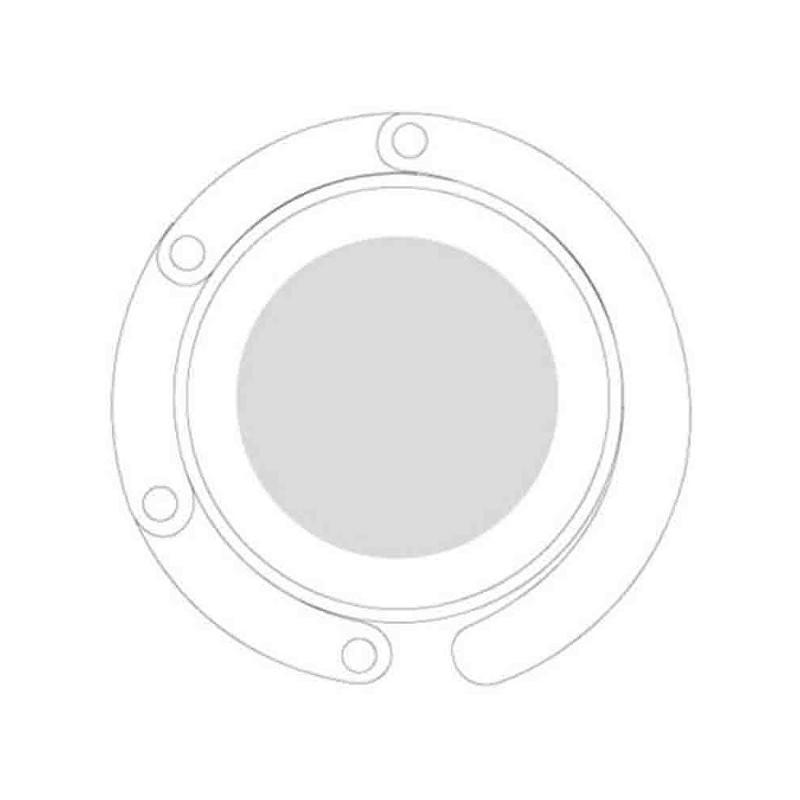 Accroche sac pliable blanc - Porte-clés métal