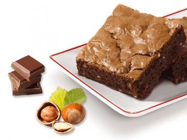 Brownie - chocolat et noisettes ou chocolat et pépites ou chocolat et caramel....