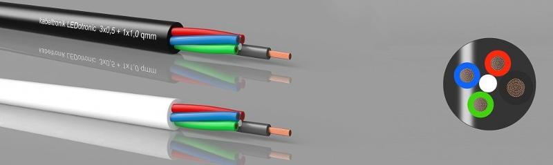 LED cables - LEDotronic 3/1, RGB LED-cable, PVC, high flexible