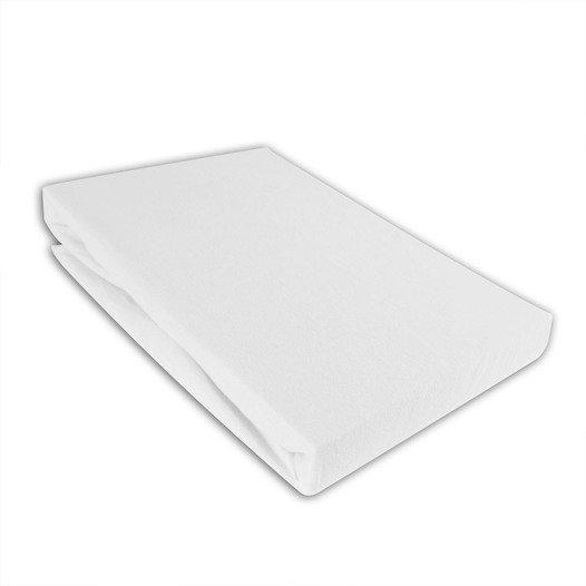 Jersey Spannbettlaken 90-100 x 190-200 cm Farbe: Weiß - null