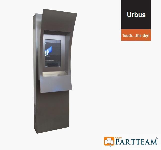 Quiosque multimédia Urbus - Design Robusto para Exterior