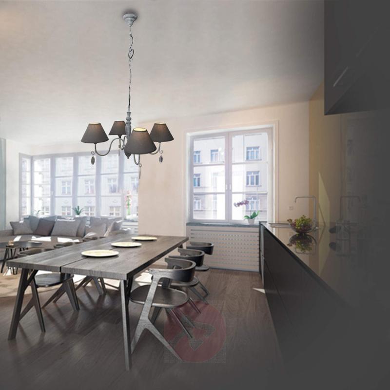 Antique grey hanging lamp Susana - indoor-lighting