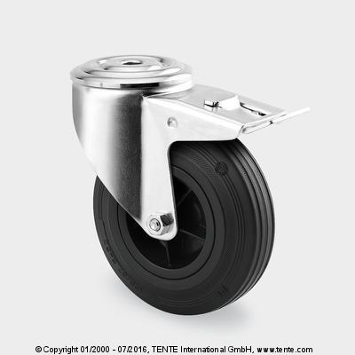 roulettes pour la manutention - Roulettes pivotantes à blocage total, 3477PVO100P30-13