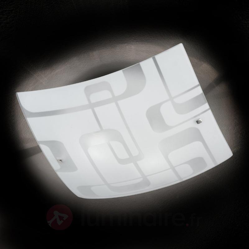 Plafonnier ultra moderne SEVENTIES - Plafonniers en verre