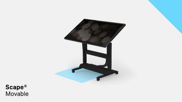 """Scape® Movable - Multitouch table - Screen sizes from 43"""", 55"""" up to 65"""""""