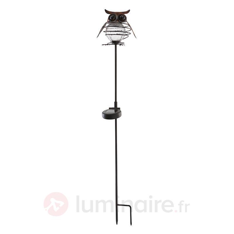 Lampe solaire de jardin Sicily chouette - Lampes décoratives d'extérieur