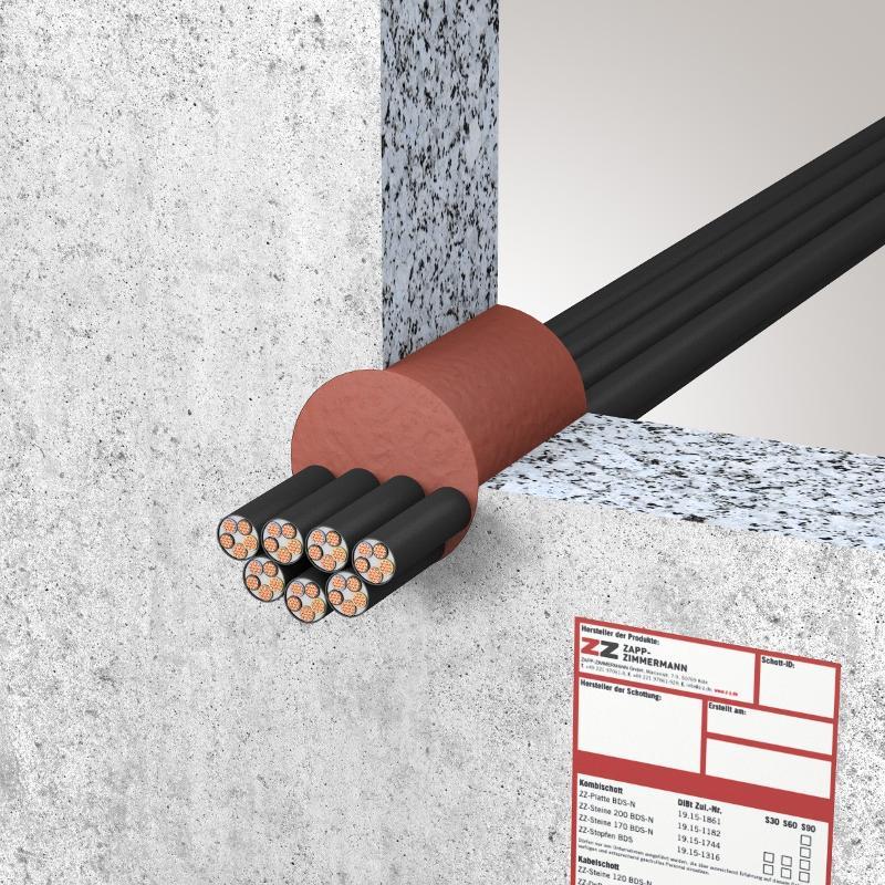 Abschottungssysteme Kabelabschottung - System ZZ-Brandschutzmasse 1K