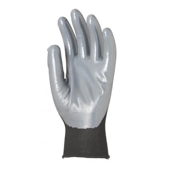 Gant polyester noir avec paume enduite de nitrile gris... - Protection individuelle EPI