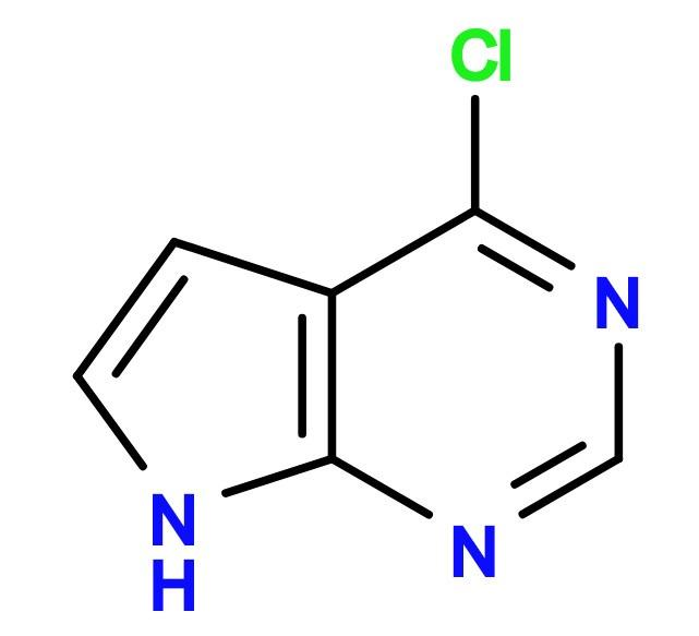 4-Chloropyrrolo[2,3-d]pyrimidin - 4-Chloro-7H-pyrrolo[2,3-d]-pyrimidin; 3680-69-1; Tofacitinib Building block