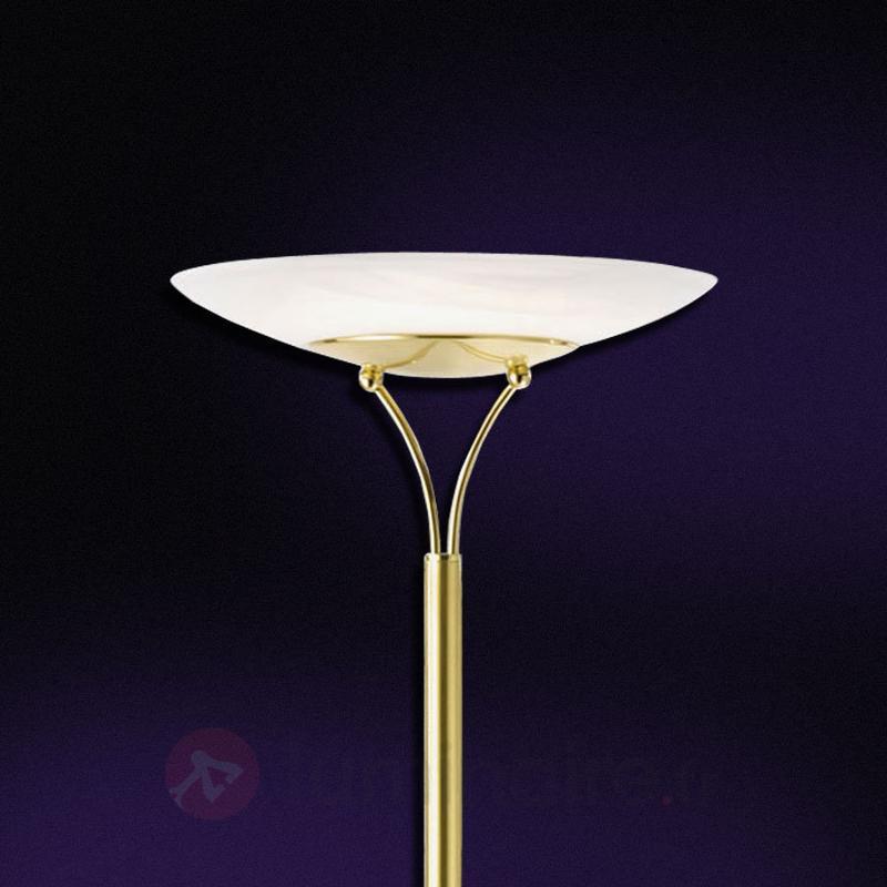 Lampadaire LED Lela avec liseuse, laiton - Lampadaires LED à éclairage indirect