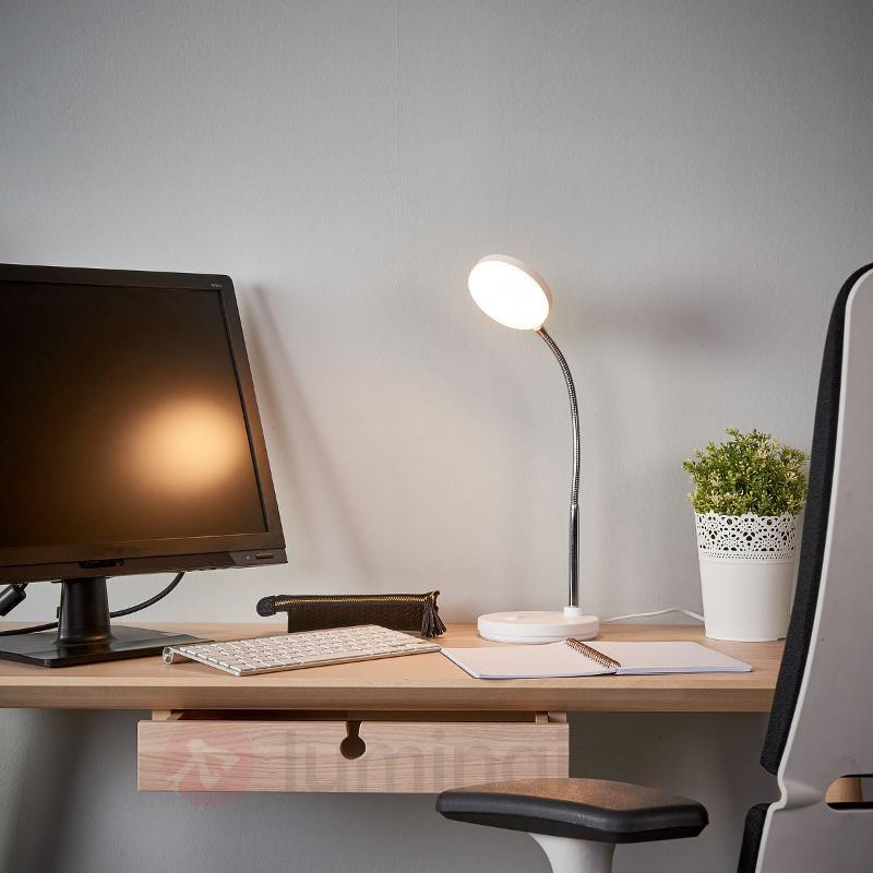 Lampe de bureau LED blanche Milow - Lampes de bureau LED