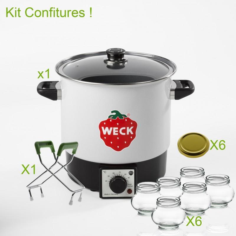 Kit d'avviamento completo per le vostre conserve - KIT WECK COMPLETS DE STERILISATION