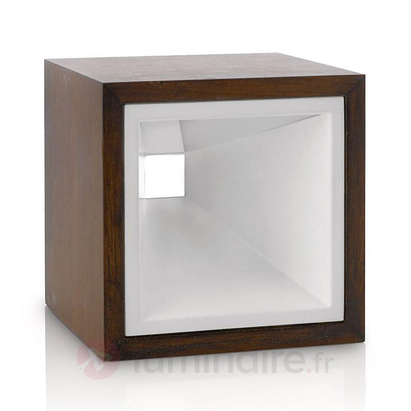 Lampe à poser LED Kubiz décorative - Lampes à poser en bois