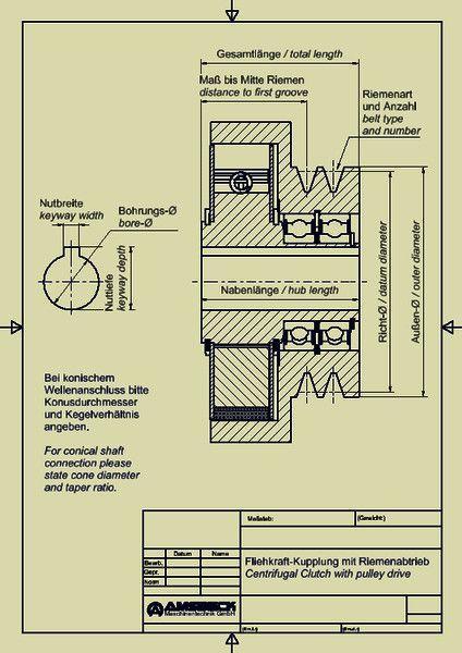 Fliehkraft-Kupplungen mit Riemenabtrieb - Fliehkraft-Kupplungen mit Riemenabtrieb