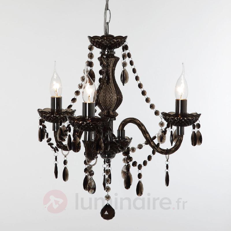 Lustre noir Perdita, à trois lampes - Tous les lustres