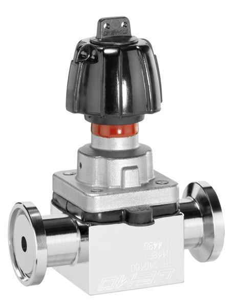 Manually operated diaphragm valve GEMÜ 601 - The GEMÜ 601 2/2-way diaphragm valve is manually operated.