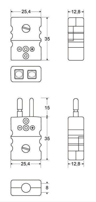 Coupling jack Standard | Solid pins (CSJ) - Connector Standard