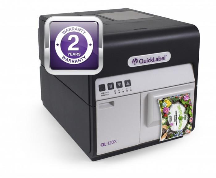 QL-120X-Premium Inkjet Color Label Printer - The colour label printer QL-120X features the industry's best two-year warranty