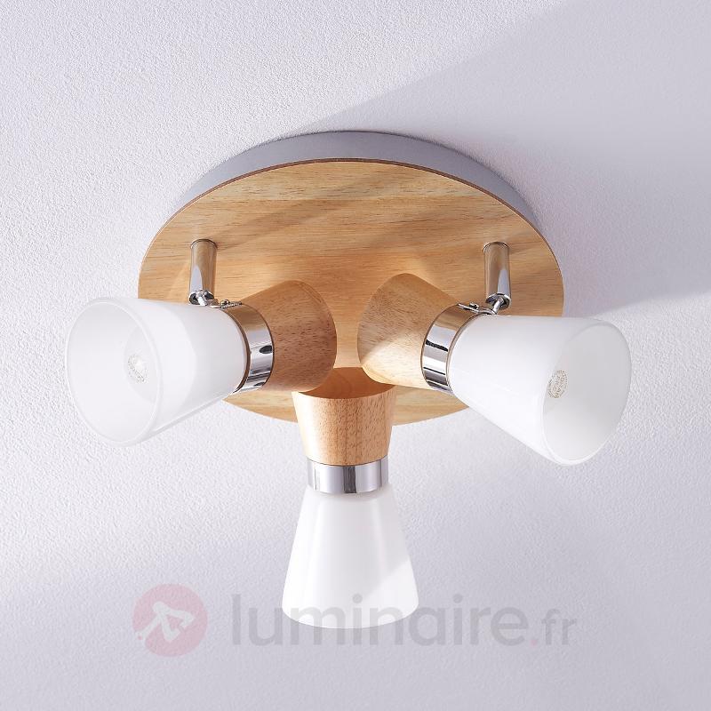 Plafonnier Vivica avec éléments en bois - Plafonniers en bois