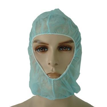 Хирургический капюшон - белый и голубой 40 x 37 см