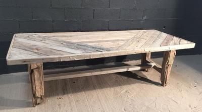 Table en planche de bois flotté, DECO-NATURE, France