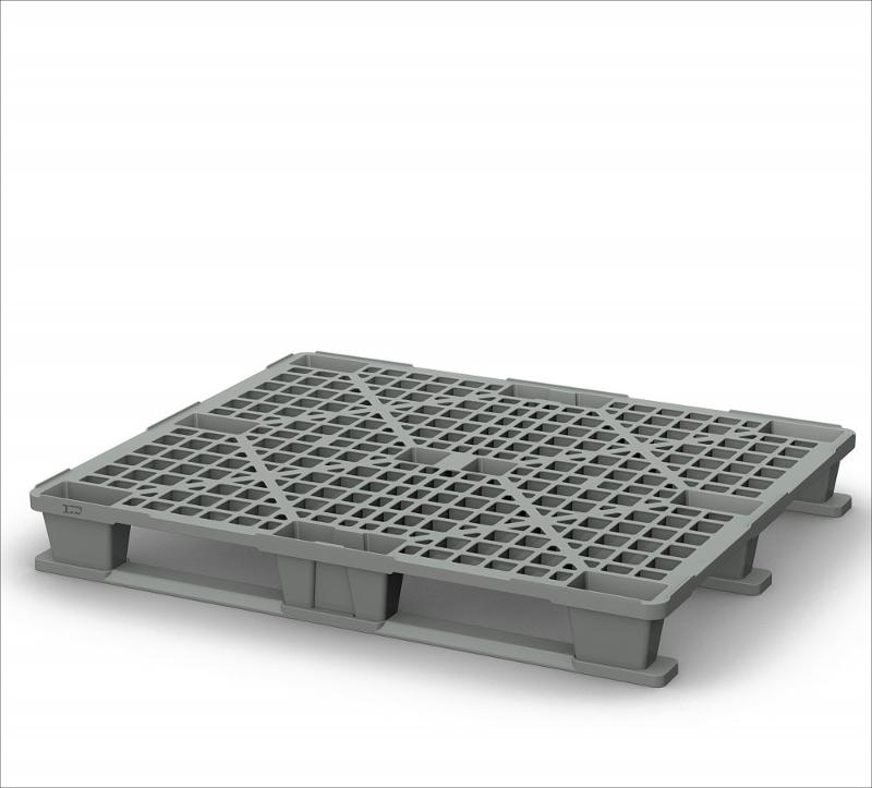 Light perforated plastic pallet 1200х1000 with two runners - Art.: 02.112.С71
