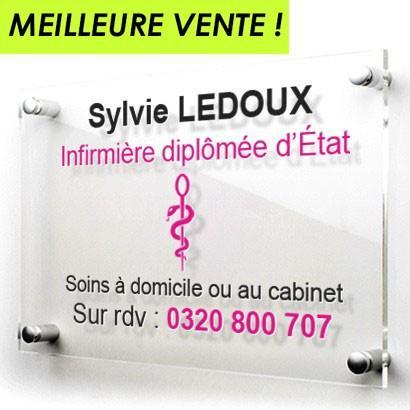 Plaque professionnelle en plexi transparent   Créativ'Sign - Plaque professionnelle en plexiglas transparent personnalisable en ligne