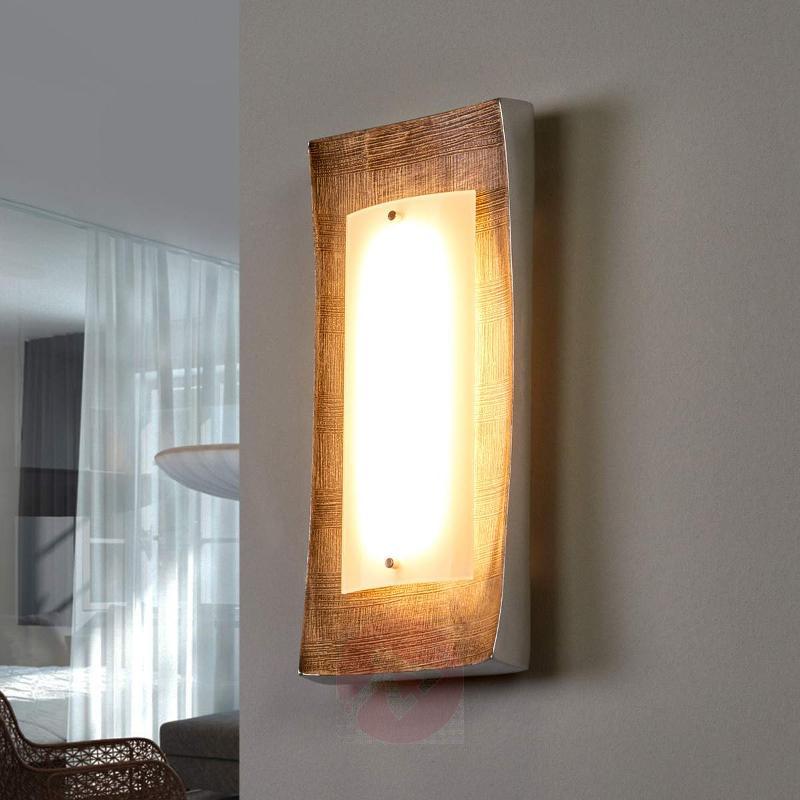 LED wall light Maren, décor gold - Wall Lights