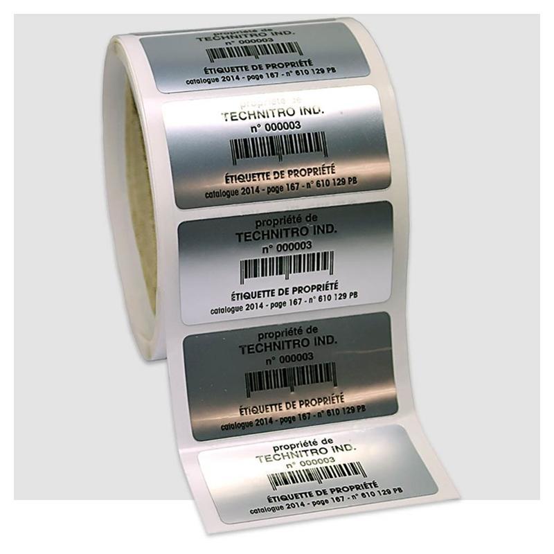 Étiquettes de propriété - usage extérieur - Étiquettes industrielles