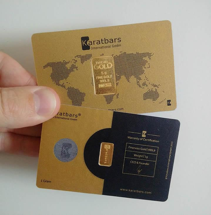 Karatbars de oro puro