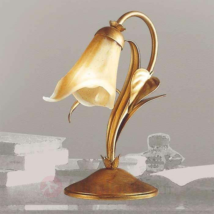 Lampe à poser style florentin Filippo dorée - Lampes à poser style florentin