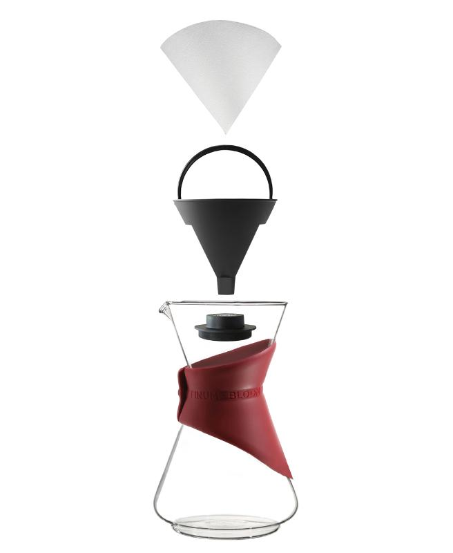 Pour-over coffee brewer – to use with any paper filter - In the Carafe