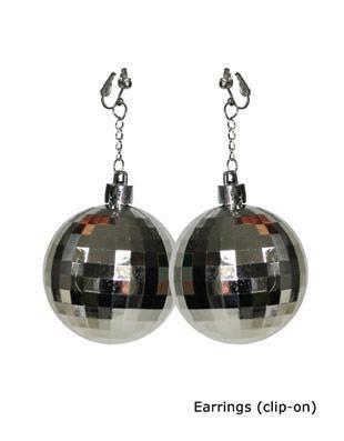 Boucles d'oreilles disco - Articles de fête et Carnaval