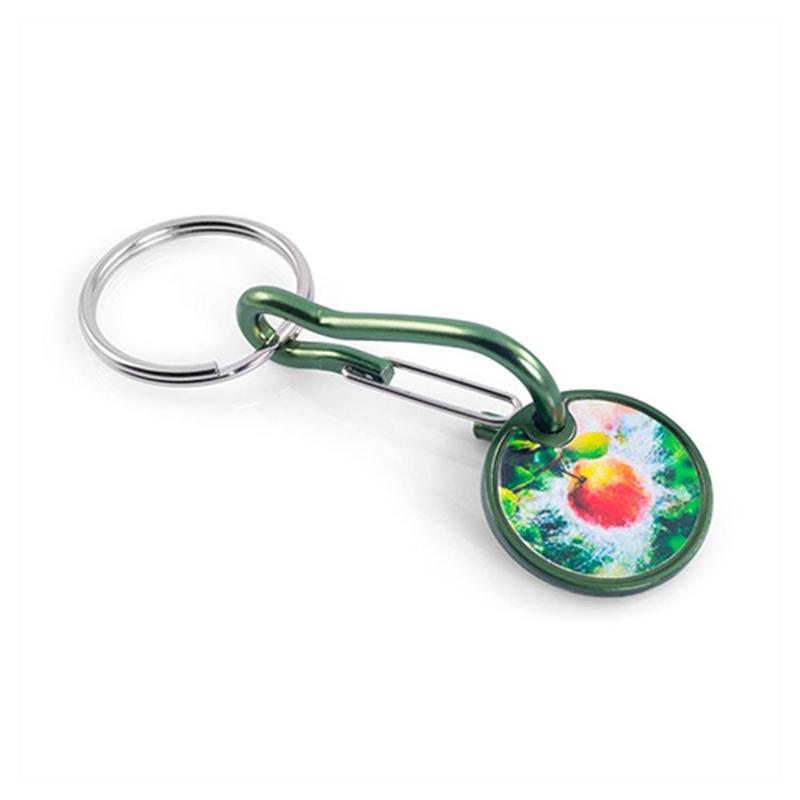 Porte-clés jeton aluminium - Marquage quadri - Porte-clés métal