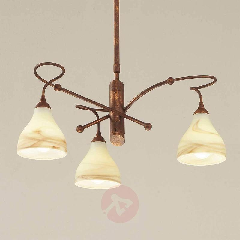 Brown hanging light Mattia - Pendant Lighting