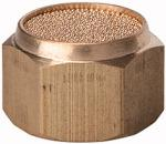 Sintered bronze silencer, flat, G 1 i., AF 41 - Silencers, sintered bronze, flat type with female thread