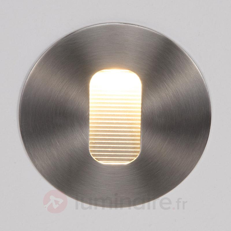 Applique encastrée LED Telke ronde pr l'extérieur - Appliques d'extérieur LED