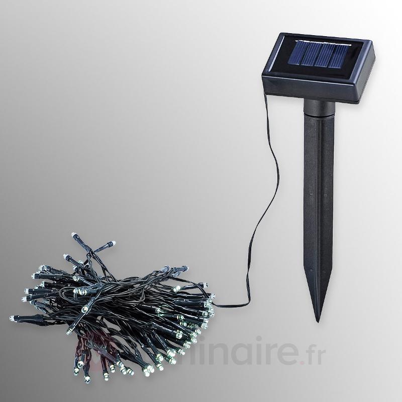 Guirlande lumineuse solaire LED avec 100 LED - Lampes solaires décoratives
