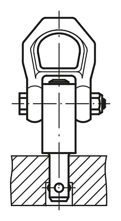 Anneau de levage à broche autobloquante - Anneaux de levage fixes et pivotants, anneaux à broche autobloquante
