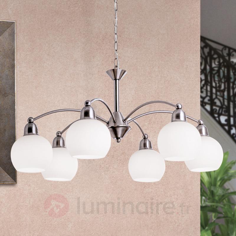 Suspension Ledion à six lampes - Suspensions LED