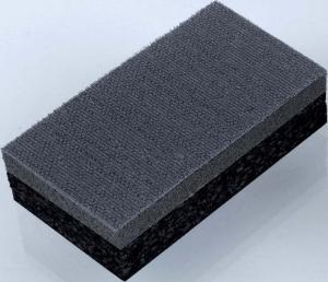 Handschleifblock rechteckig, doppelseitig nutzbar - Für Flächenschliff (harte Seite) und Kanten- bzw. Radienschliff (weiche Seite)