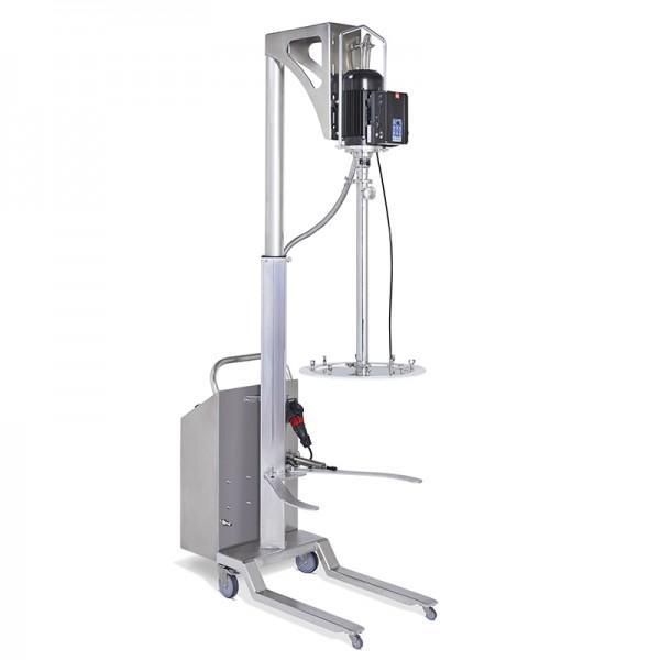 Hydraulic Drum emptying system with follower plate - Drum emptying system with follower plate