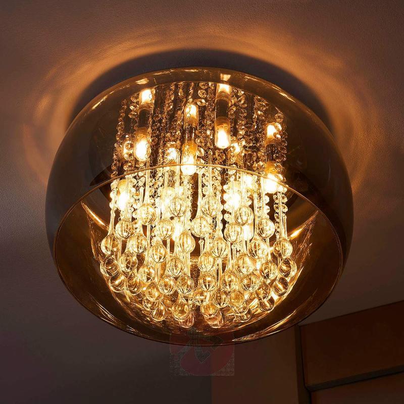 Elegant LED crystal ceiling light Leona - Ceiling Lights