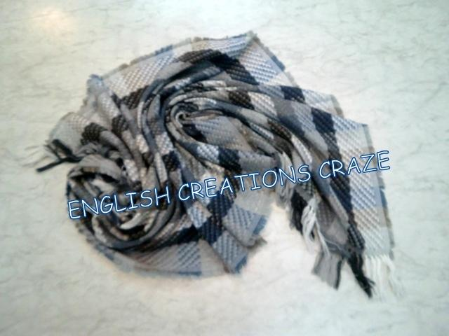 Wool Cotton Jacquard Multi Color Scarves - Wool Cotton Jacquard Multi Color Scarves