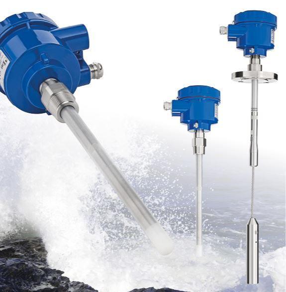 NivoCapa® - NC8000 Medição Contínua de Nível - Os sensores capacitivos UWT NivoCapa® NC8000 são usados para medição contínua