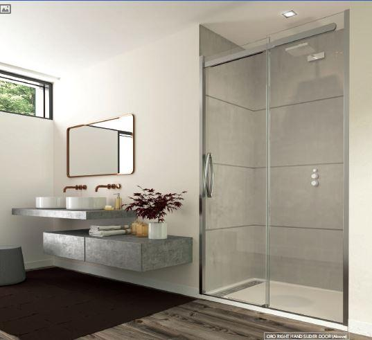 ORO SLIDING DOOR - The floating top rail design is a signature characteristic of the ORO range. Wit